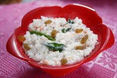 Riz crème de lait caillé, tayir sadam, Paladai Bagalabath de Paladai photo libre de droits
