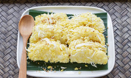 Riz-crêpe de fèves de mung Photos stock
