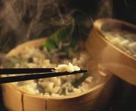 Riz cuit à la vapeur Photographie stock