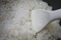 Riz cuit à la vapeur dans un pot Images libres de droits