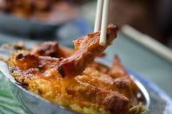 Riz cuit au four avec du porc Image libre de droits