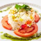 Riz cuit avec la tomate photos libres de droits
