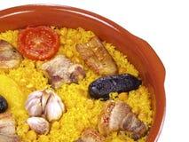 Riz cuit par four d'â de Horno d'Al d'Arroz -   Images stock
