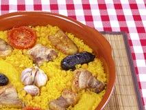 Riz cuit par four d'â de Horno d'Al d'Arroz Photos stock