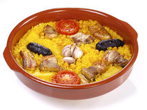 Riz cuit par four d'â de Horno d'Al d'Arroz - d'isolement Photo libre de droits