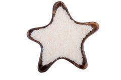 Riz dans la forme d'étoile Photographie stock