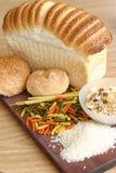 Riz de céréale de pâtes de pain Photos stock