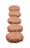 Riz de chocolat et gâteau croquants de caramel Photographie stock