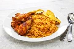 Riz de Jollof, cuisine d'Afrique occidentale Photo stock