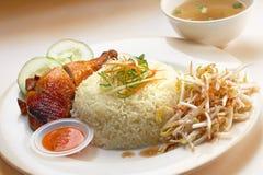 Riz de poulet Photos libres de droits