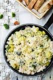 Riz de poulet de fromage de brocoli Images stock