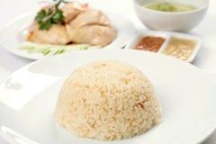 Riz de poulet de Hainanese Image libre de droits