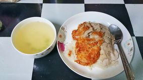 Riz de poulet de Hainanese Photographie stock libre de droits