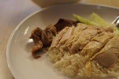 Riz de poulet de Hainanese Photos libres de droits