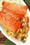 Riz de saumons et de Cilantro-chaux images libres de droits