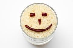 Riz de sourire Photographie stock libre de droits