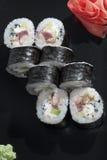 Riz de sushi japonais yin-Yang Image stock