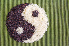 Riz de Yin yang image stock