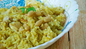 Riz des Iles. Creole dish of rice and chicken Stock Image