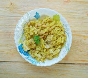 Riz des Iles. Creole dish of rice and chicken Stock Photography