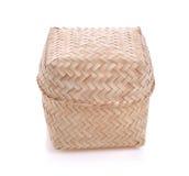 Riz en bois en bambou de Kratib d'appel de boîte à riz en Thaïlande Photo stock