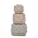 Riz en osier ou Kratip ou récipient de panier de riz collant qui est Th photographie stock