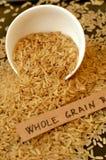 Riz entier de grain dans la cuvette Photo libre de droits