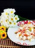 Riz et condiments photographie stock libre de droits