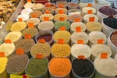 Riz et haricots Photographie stock libre de droits