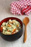 Riz et légumes images stock
