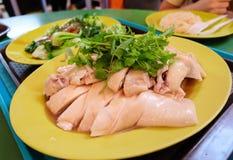 Riz et poulet de Singapour Photographie stock