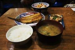 Riz figé de nourriture japonaise et Donburi ou oeufs et tsubodai de Don ou ho Image libre de droits