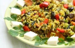 Riz frit avec des légumes Image libre de droits