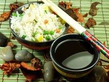 Riz frit chinois Photo libre de droits