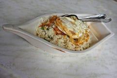 Riz frit - concept de bateau Photo stock
