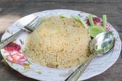 Riz frit, cuisine thaïlandaise Photo stock