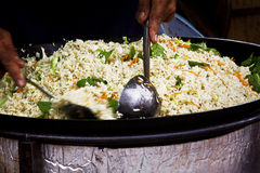 Riz frit dans les articles en verre creux Photographie stock libre de droits