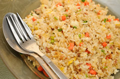 Riz frit de chair de crabe Photo stock