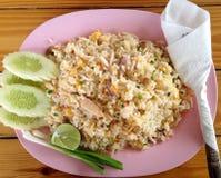 Riz frit de crabe Images stock