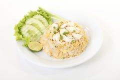Riz frit de crabe thaïlandais Photos libres de droits