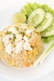 Riz frit de crabe thaïlandais Image stock