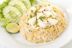 Riz frit de crabe thaïlandais Photographie stock libre de droits