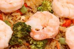 Riz frit de crevette asiatique Images stock