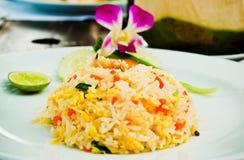 Riz frit de fruits de mer Photo libre de droits