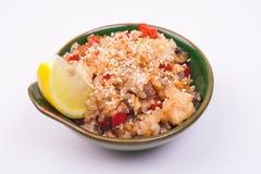 Riz frit de fruits de mer Images libres de droits