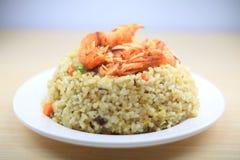 Riz frit de fruits de mer du Japon Photographie stock libre de droits