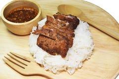 Riz frit de porc Image libre de droits
