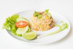Riz frit de porc avec le style thaïlandais d'oeufs Image stock