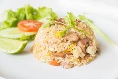 Riz frit de porc avec le style thaïlandais d'oeufs Photographie stock