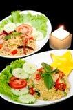 Riz frit de porc thaï Photo stock